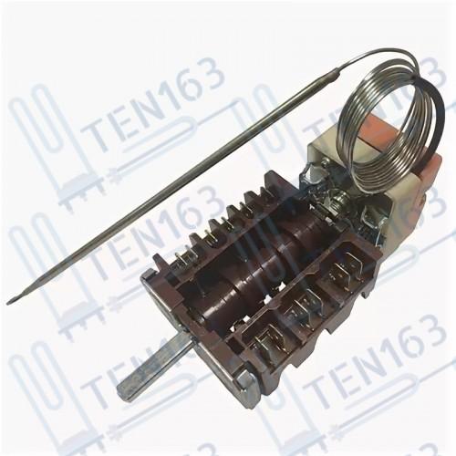 Переключатель духовки 5 позиционный с термостатом в сборе от 0° до 300°c 2 контакта