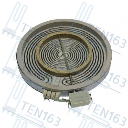 Конфорка 2-х зонная D=230mm/140mm, 2200W/700W Whirlpool 481231018895 C00339918
