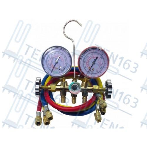 Коллектор манометрический CT-536GFS R-12, R-22, R134, R404 Ø68мм с шлангами