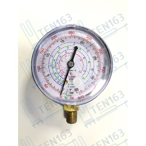 Манометр низкого давления 68мм R-410, R-22, R-134, R-404