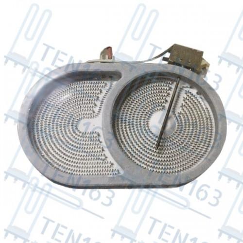 Конфорка для стеклокерамических плит 1800 Вт 170x265 мм Китай