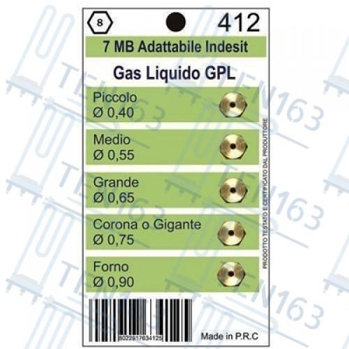 Жиклеры комплект (5шт.) 7MB-GPL (0.40 0.55 0.65 0.75 0.90)