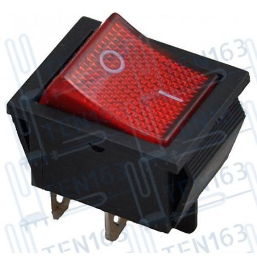 Выключатель красный 16А 250V, 20A 125V