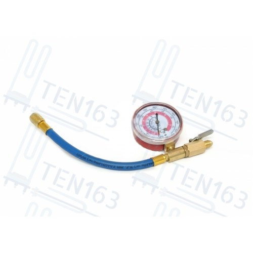 Шланг для заправки автокондиционера c манометром, с вентилем FC-BR810G70