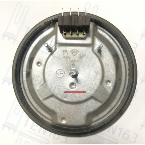 Конфорка чугунная EGO 1500W/230V, D=145мм клеммы Италия
