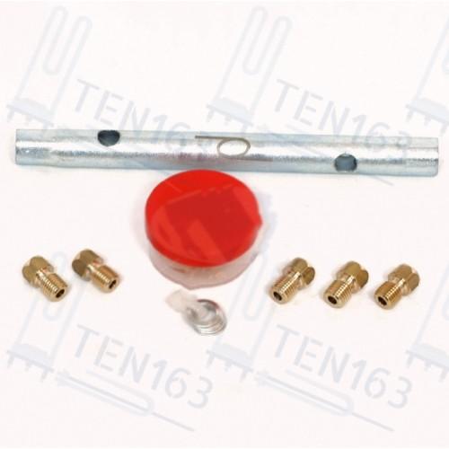 Комплект жиклёров, форсунок варочной панели GEFEST, с ключом