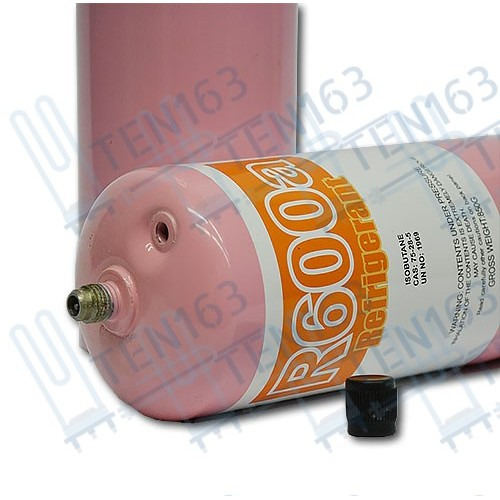 Фреон R600 с клапаном шредера 850 грамм вес нетто 420г