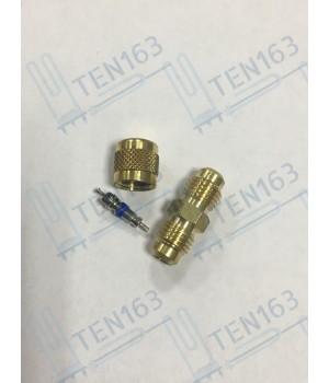 Клапан для заправки фреона 1/4 SAE (Втулка+Нипель+Крышка)