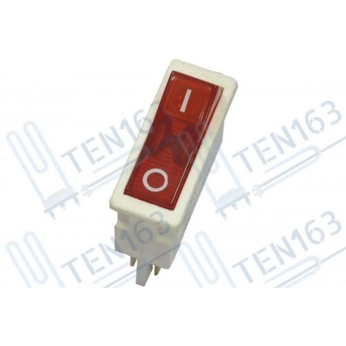 Выключатель света ВК-42 (4 контакта-6А.-красный) для холодильника