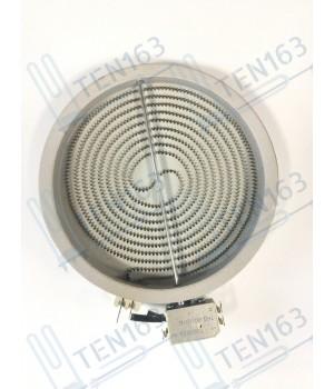 Электрическая конфорка EIKA (стеклокерамика), D=200mm, спираль D=180mm, 1700 Вт, простая, плавная