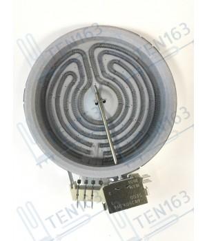 Электрическая конфорка (стеклокерамика), D=165mm, спираль D=145mm,1200 Вт, простая 4 контакта