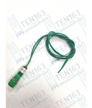 Индикаторная лампа с проводами 250 VAC зеленая