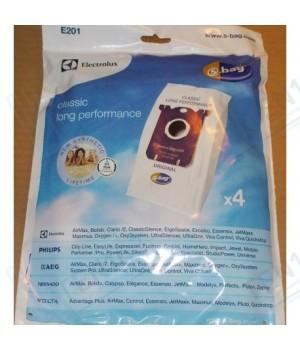 Мешки для пыли E201 4 S-BAGS CLAS LONG PERFOR 4шт