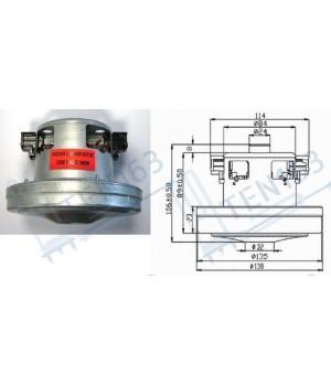 Мотор для пылесоса Electrolux, 1400w (Италия), H=106, h32, D138, 2192841027 11me72