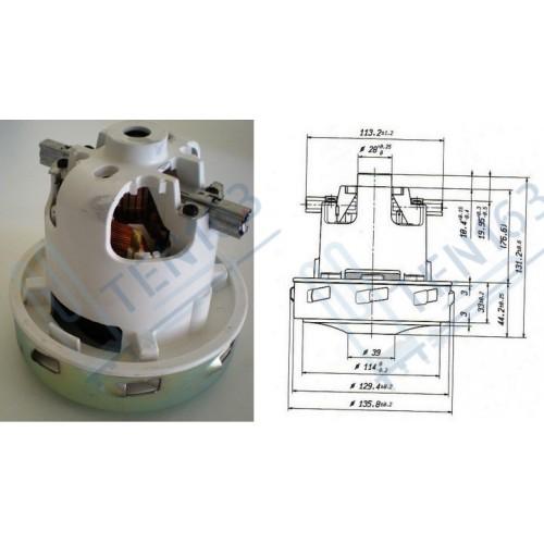 Мотор пылесоса 1400w (моющий), H=130, h45, D130 E064200027 Италия