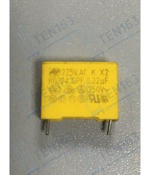 Конденсатор к кнопке 0,22mfk 275v~x2