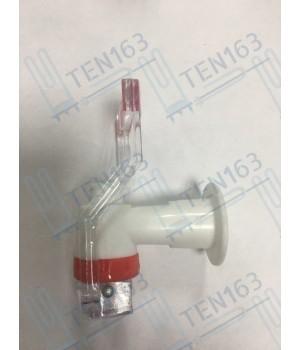Кран-кружка для кулера внутренняя резьба красный
