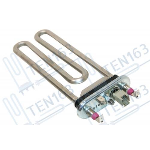 Тэн 1750W прямой с датчиком L=185 для современных стиральных машин Elecrtrolux Zanussi AEG, резинка с 'юбкой'