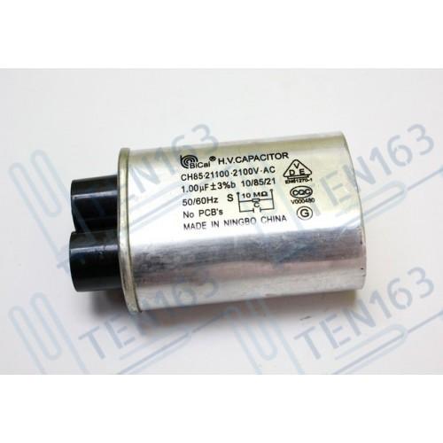 Конденсатор высоковольтный 1.00 mf 2100v для микроволновой печи СВЧ