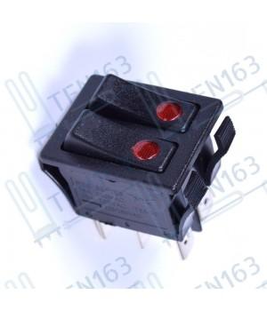 Выключатель двухклавишный /16A/250B/ черный