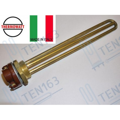 ТЭНовая группа THERMOWATT, RDT 1200 Вт под анод М6 + Термостат RTМ-300 15A  Италия