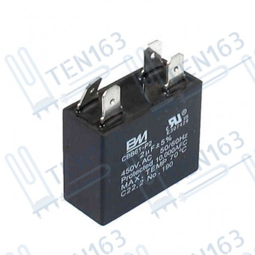 Конденсатор для кондиционера CBB61 2,2мкф, 450V (квадрат)