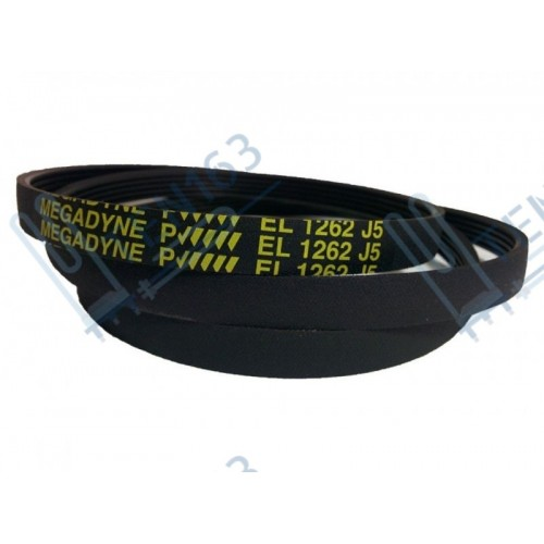 Ремень 1262 J5 MEGADYNE черный для стиральной машины